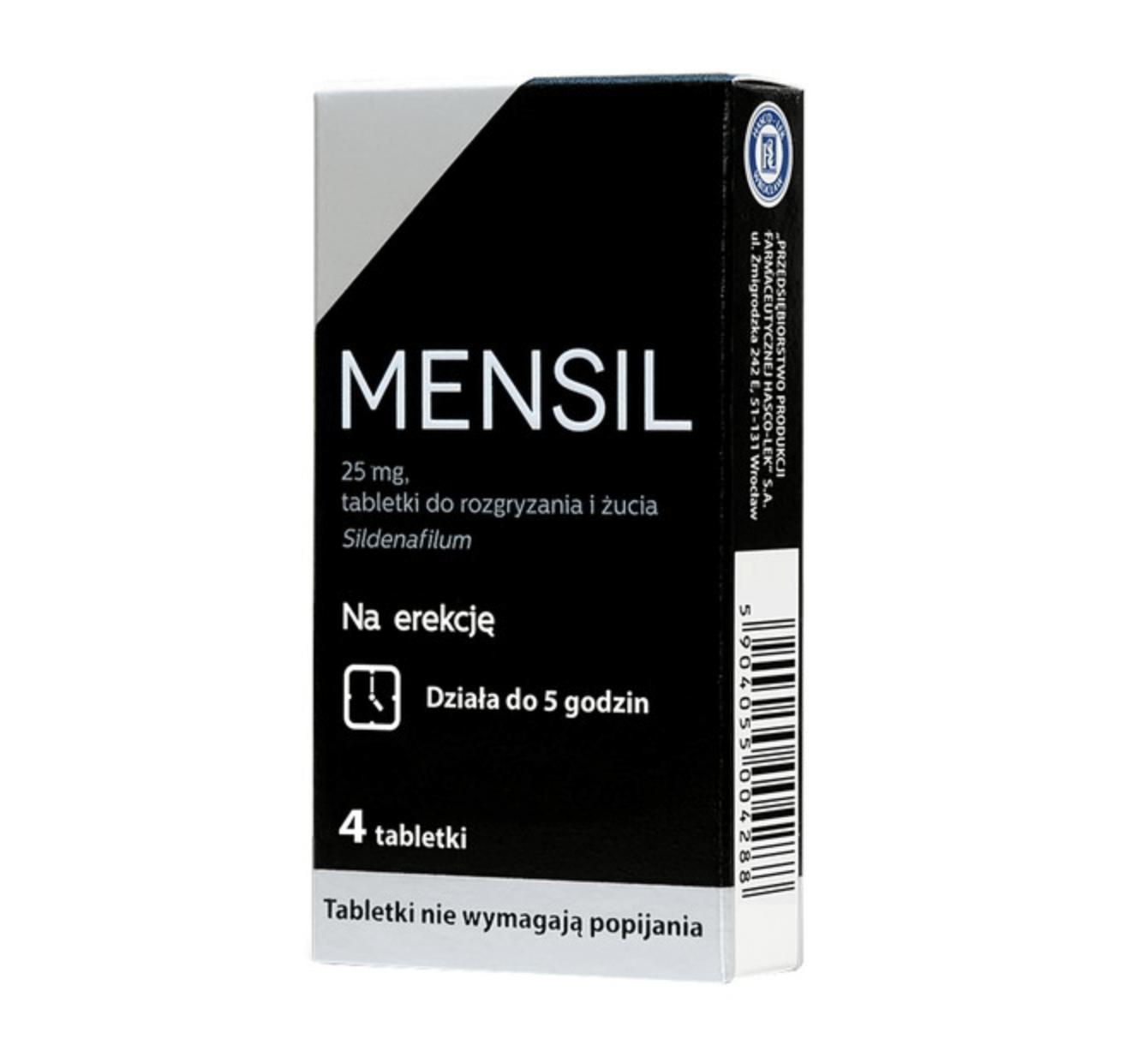 Mensil jako pierwsze wspacie przy zaburzeniach erekcji
